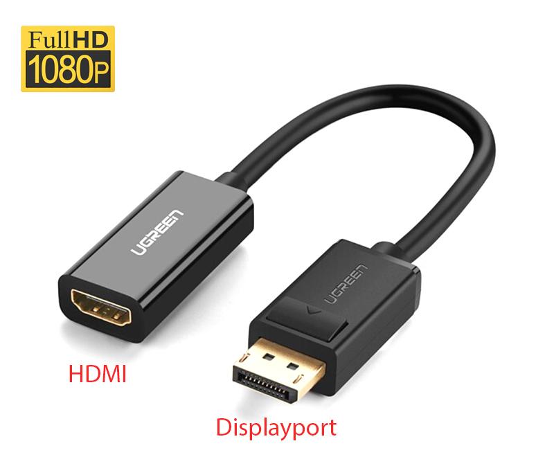 Cáp chuyển đổi Displayport to HDMI Full HD1080 Ugreen 40362