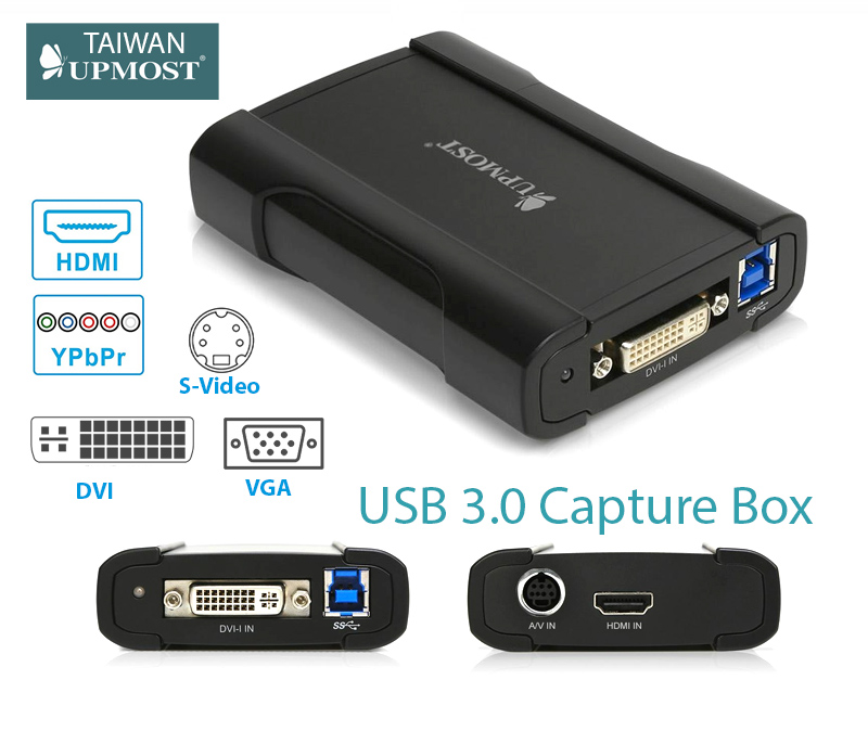 Box USB 3.0 Capture HDMI VGA DVI S-Video RCA Component Upmost MPB730HDMI