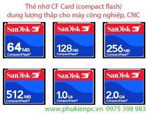 Nơi bán thẻ nhớ CF 128MB 256MB 512MB 1GB 2GB dung lượng thấp máy CNC