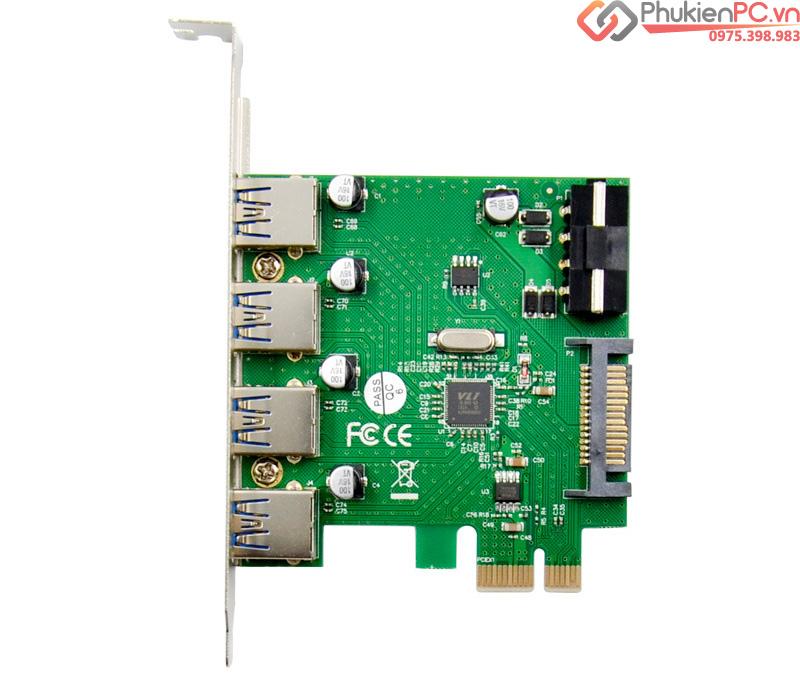 Card mở rộng PCIe to 4 USB 3.0 chip VL805