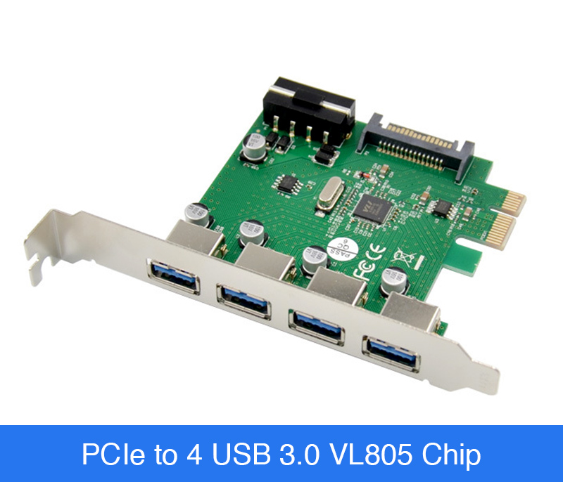 Card mở rộng PCIe to 4 USB 3.0 chip VL805