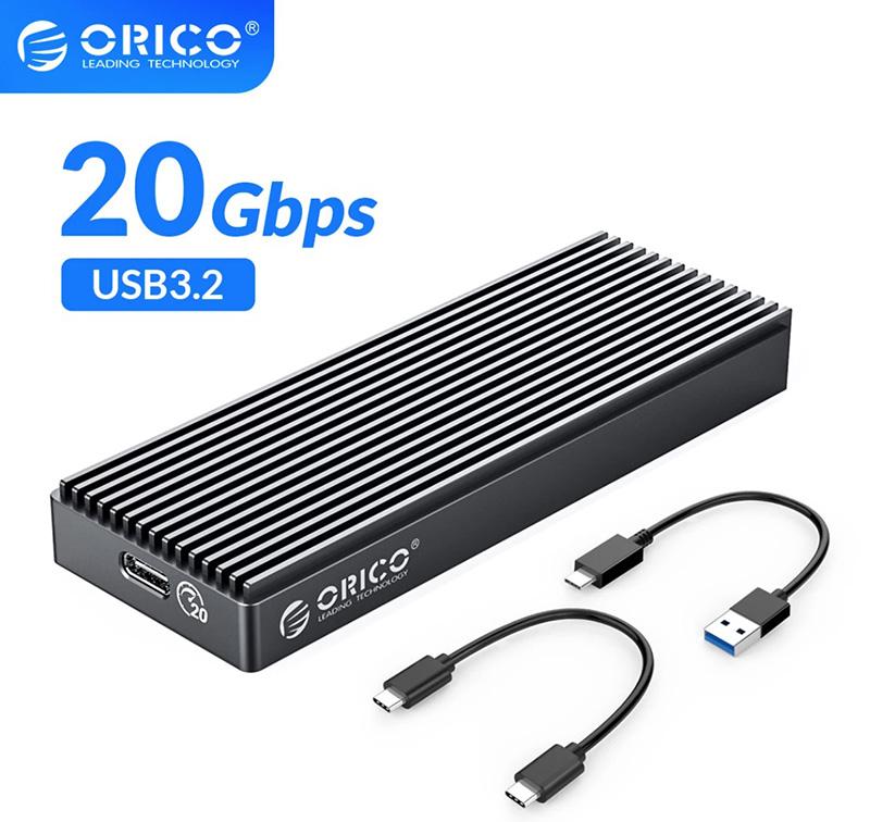 Box SSD M2 NVMe to Type C 20Gbps Orico M2PAC3-G20 mở rộng lưu trữ cho Macbook, Laptop