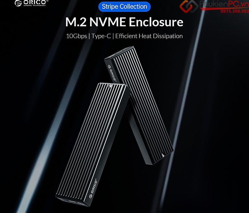 Box SSD M2 NVMe to Type C 10Gbps Orico M2PV-C3, Biến SSD M2 thành ổ cứng di động