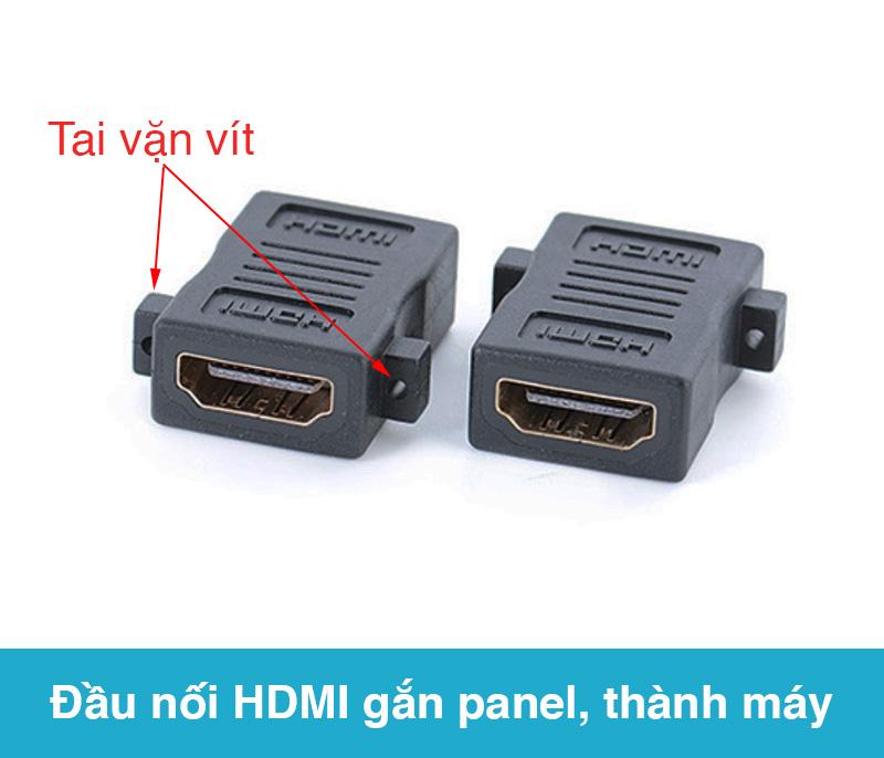 Đầu nối HDMI hai đầu cái gắn panel thùng máy