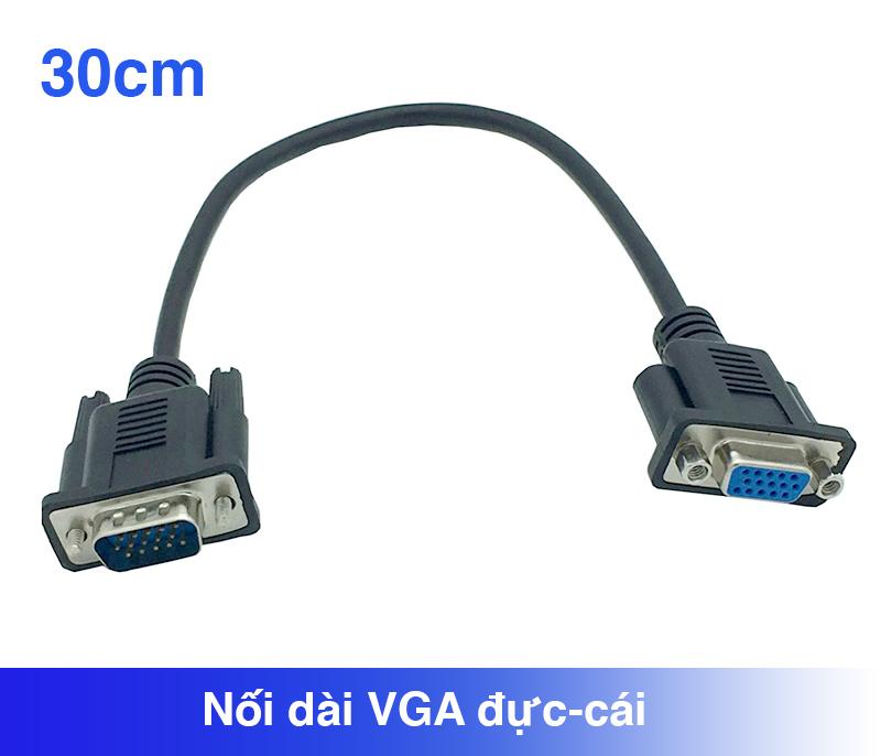 Cáp nối dài VGA Dsub 15Pin đực-cái 0.3M