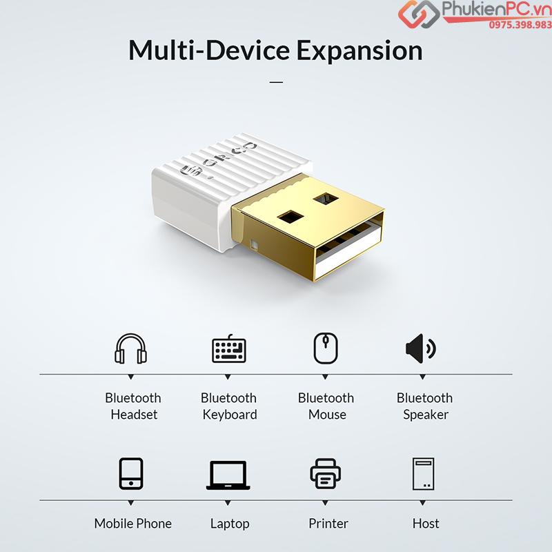 USB phát Bluetooth 5.0 cho PC, Laptop Orico BTA-508