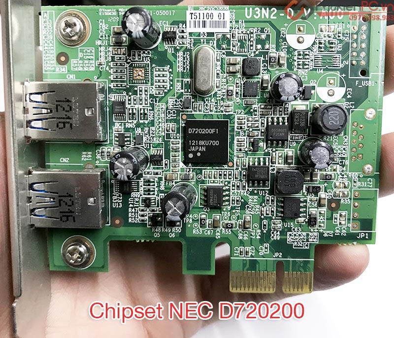 Card mở rộng PCI-E to 2 USB 3.0 cho PC, máy tính đồng bộ