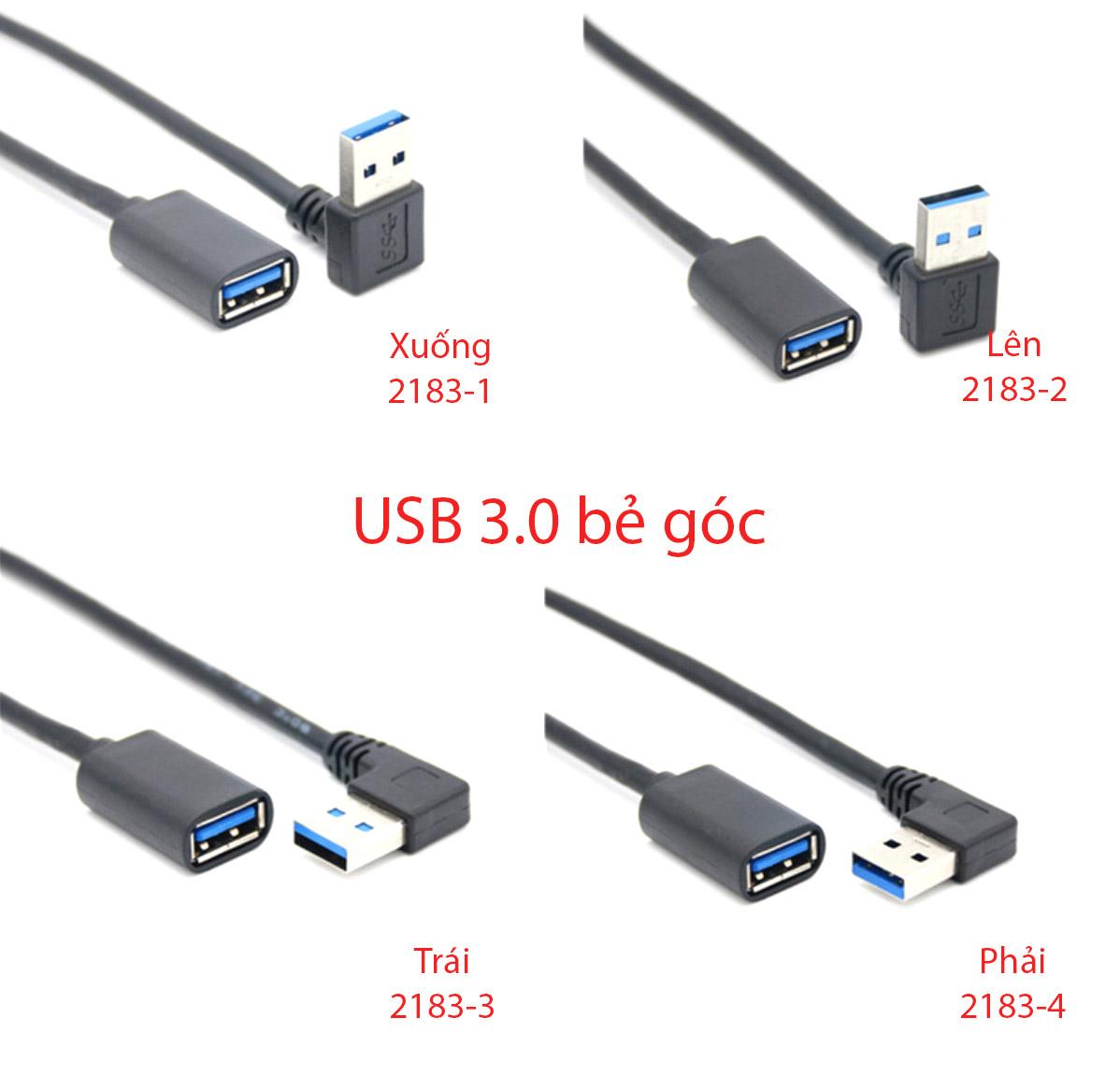 Cáp nối dài USB 3.0 bẻ góc 0.3M 0.6M