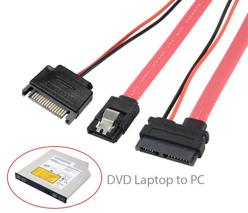 Dây chuyển CD, DVD Laptop vào máy tính bàn PC