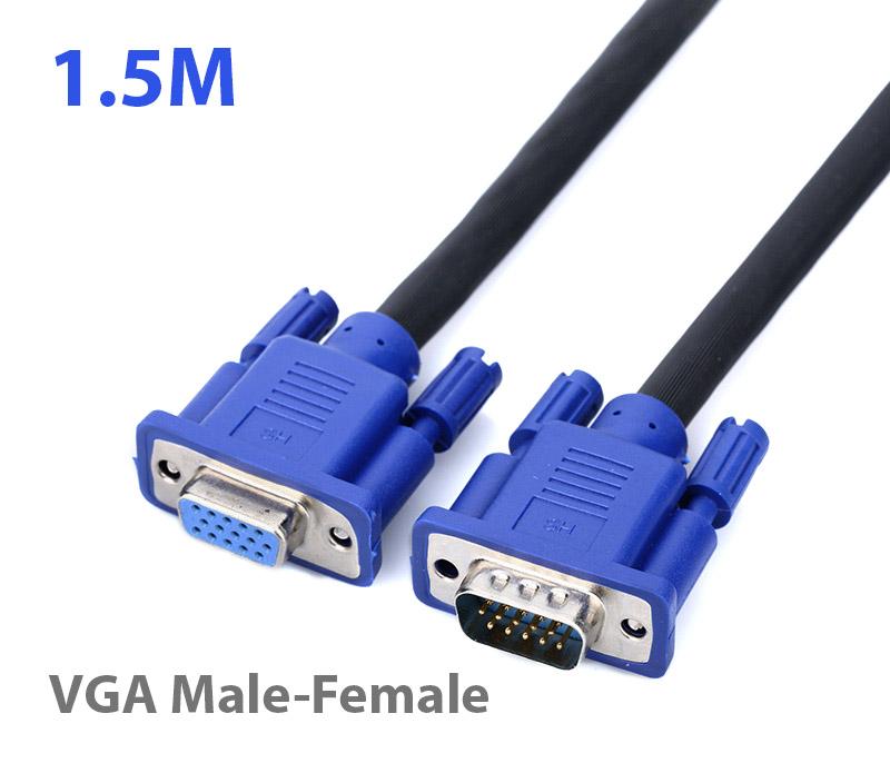 Cáp nối dài VGA Dsub 15Pin đực-cái 1.5M