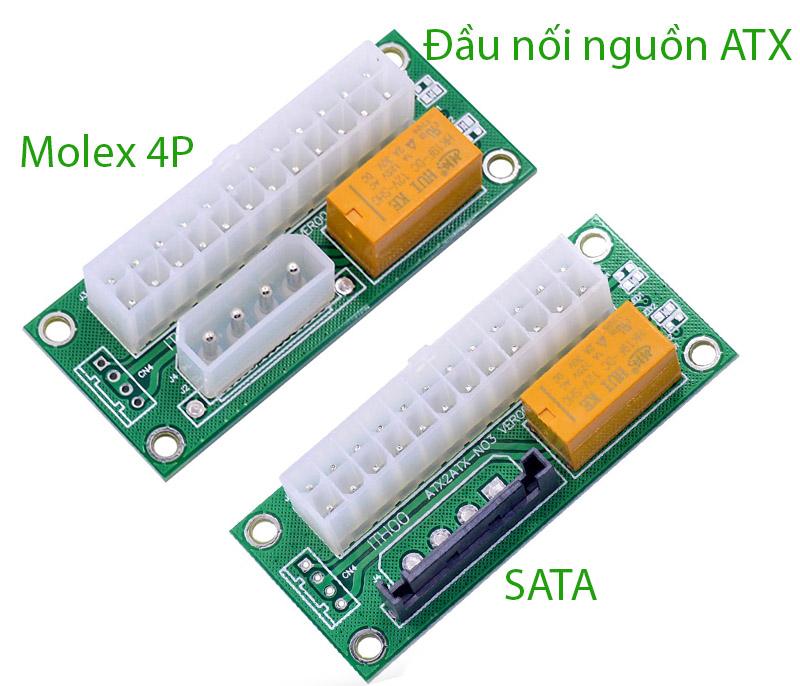 Đầu nối song song 2 nguồn máy tính ATX 24Pin