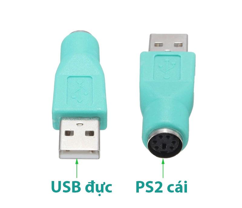 Đầu chuyển USB sang PS2 cái