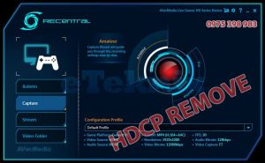 Link tải Avermedia RECentral HDCP Protect Remove