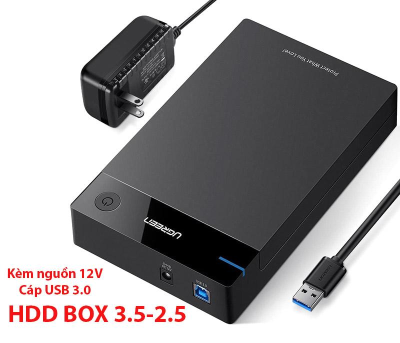 Box ổ cứng HDD/SSD 3.5 Ugreen 50422 hỗ trợ 16TB