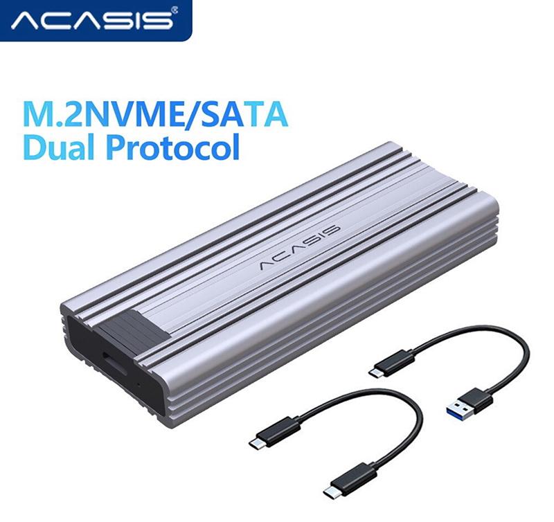 Box đa năng SSD M2 NVMe, SATA to Type C Acasis chính hãng