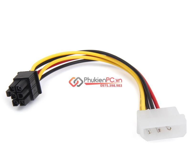 Cáp nguồn Molex ATA sang 6Pin PCI-E