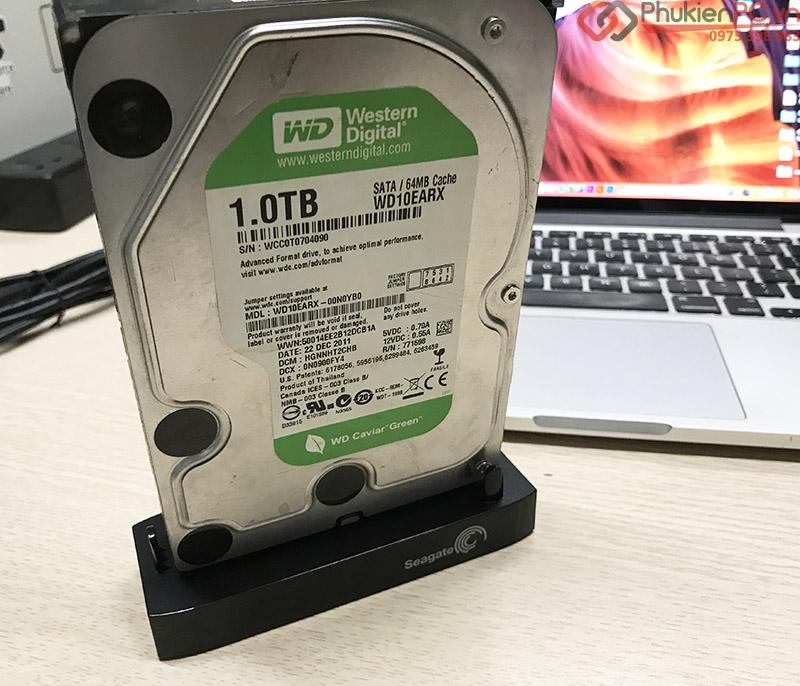 Cáp chuyển đổi USB 3.0 sang SATA HDD, SSD kèm nguồn 12V
