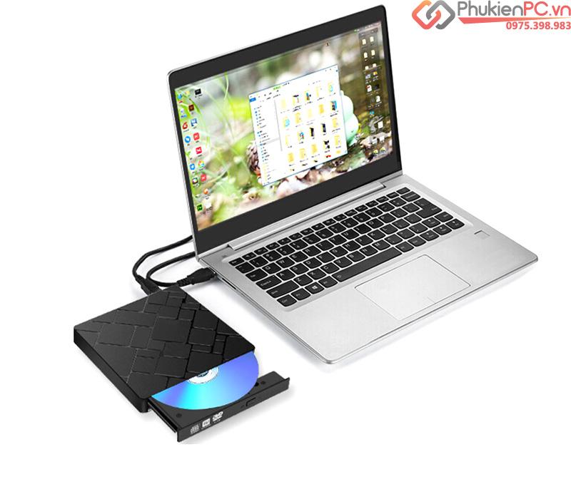Ổ đĩa quang CD/DVD-RW cắm ngoài USB 3.0, Type-C cho Macbook, Laptop