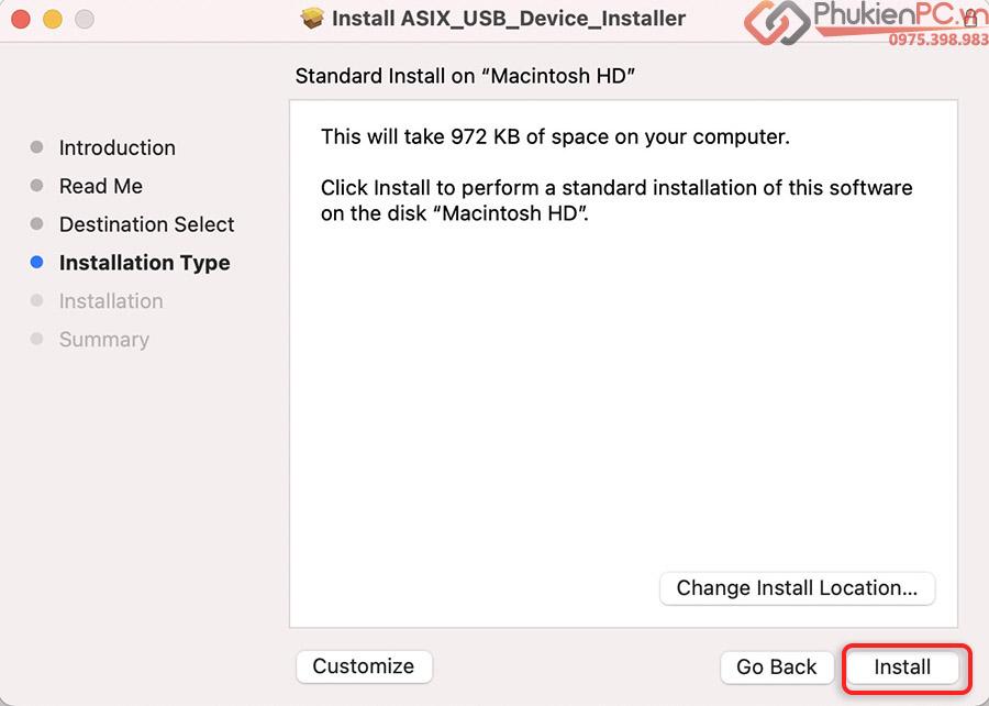 Hướng dẫn cài đặt USB 3.0 sang LAN Macbook Pro, Air M1 chip ARM