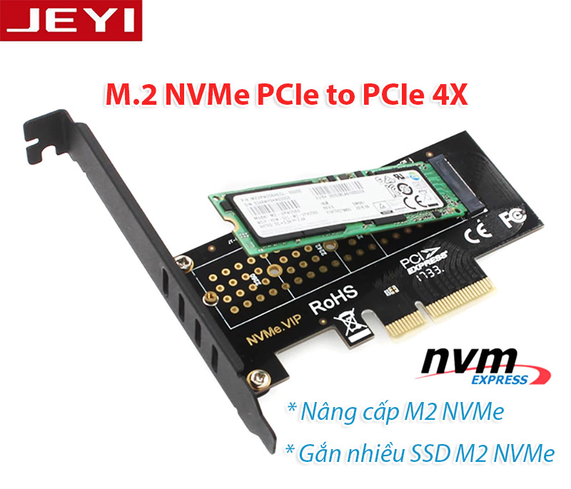 Card gắn SSD M2 NVMe PCIe 2280 to PCI-E 4X JEYI SK4