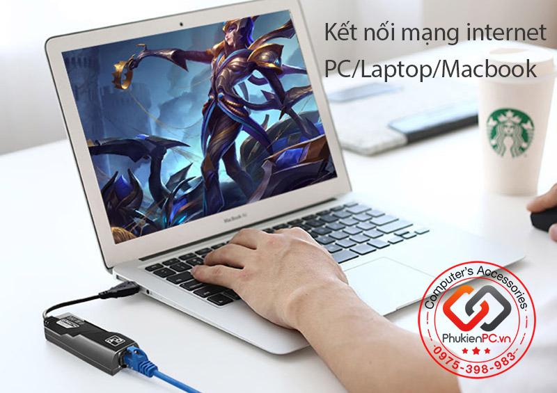 Cáp USB 3.0 sang LAN Ethernet 1000 Mbps tự nhận driver