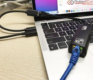 Thiết bị chuyển đổi Macbook Air, Macbook Pro ra mạng LAN ethernet