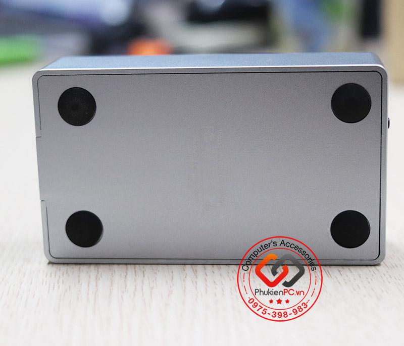 Box đọc và nhân bản 2 ổ cứng SSD M2 NVMe có quạt tản nhiệt