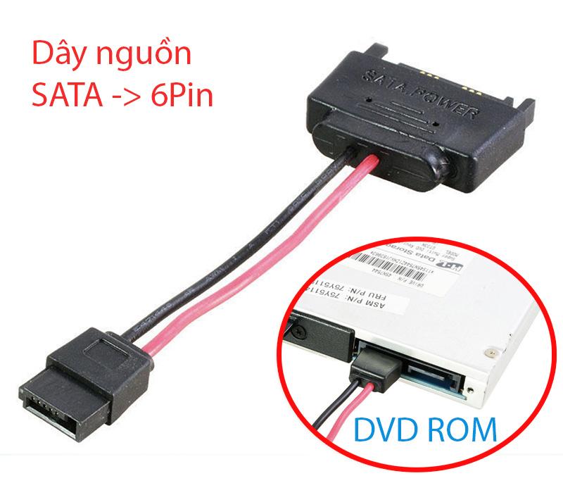 Dây nguồn SATA sang 6pin cho CD DVD Laptop