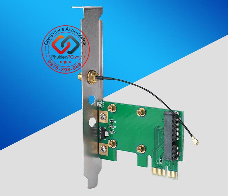 Card chuyển đổi Mini PCIe to PCIe 1X