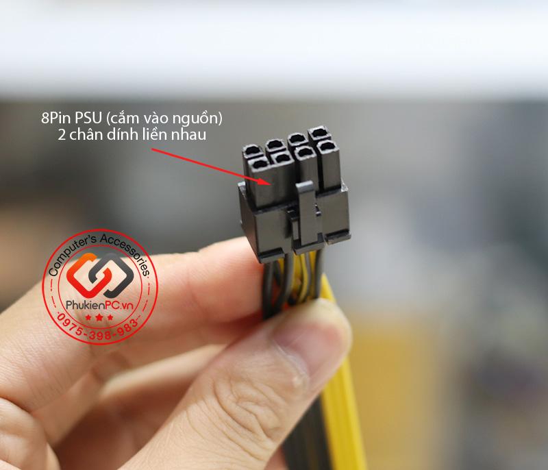 Dây nguồn 8Pin Modular ra 2 đầu 8Pin (6+2) cho PC, Server