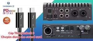 Cáp Thunderbolt 3 dài 0.3M 0.5M 1M 1.5M 2M chuyên dùng cho sound card âm thanh