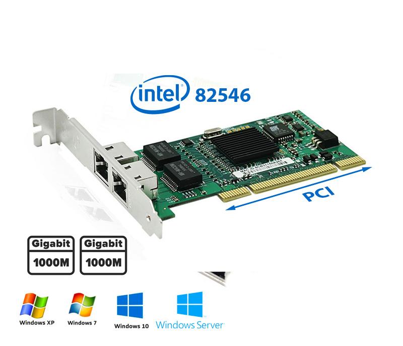 Card PCI to 2 Port LAN Ethernet Gigabit intel 82546