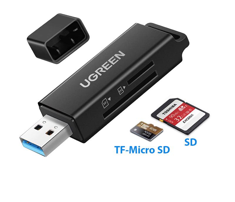 Đầu đọc thẻ nhớ USB 3.0 SD, TF Ugreen 40752