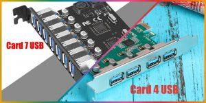Nơi bán Card PCIe ra 4 USB 3.0, 7 cổng USB cho PC, máy tính đồng bộ