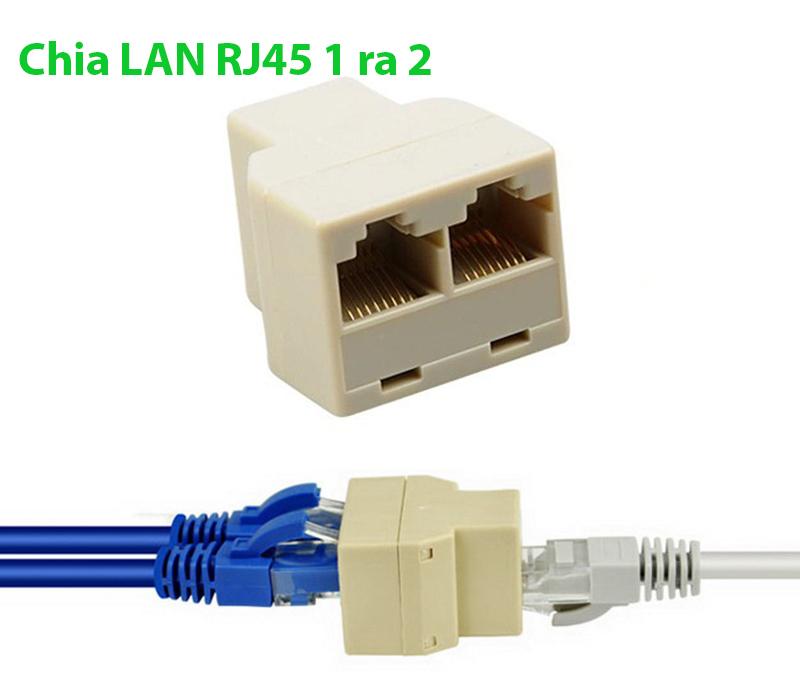Đầu nối dây mạng LAN RJ45 1 ra 2