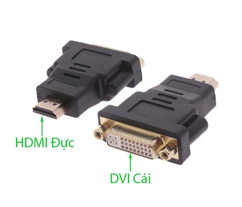 Đầu chuyển HDMI đực sang DVI cái