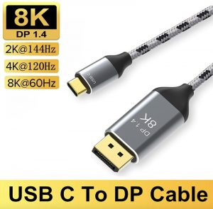 Cáp chuyển USB-C Thunderbolt 3/4 laptop gaming ra màn hình 165hz 144hz