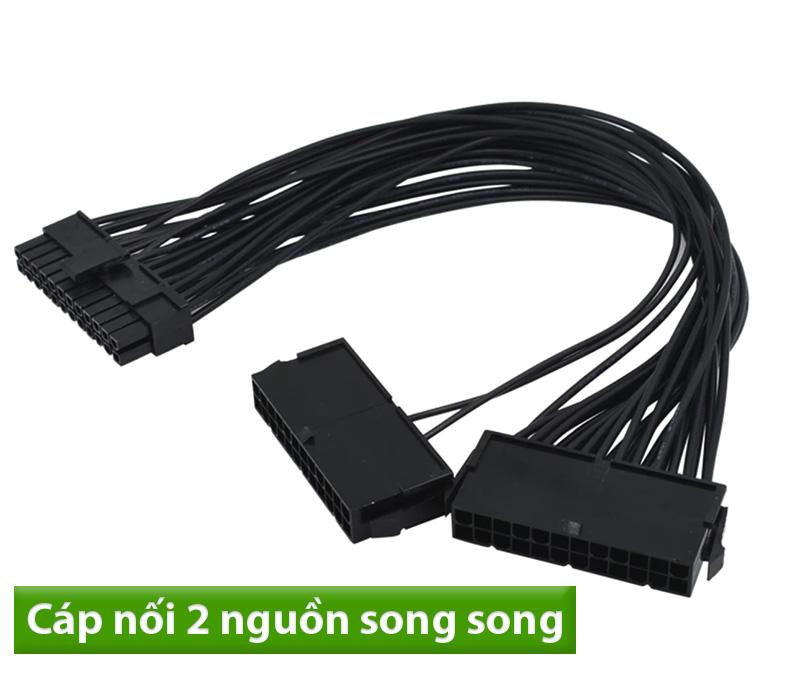 Dây nối 2 nguồn ATX 24pin chạy song song