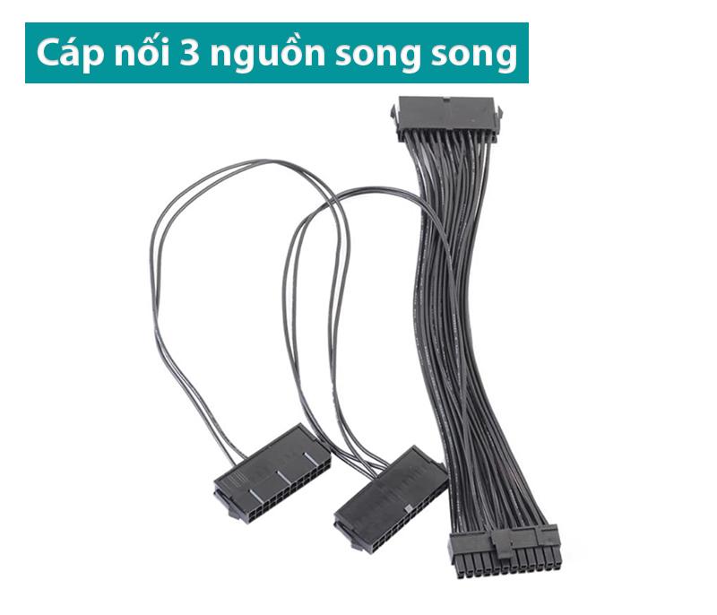Dây nối 3 nguồn ATX 24pin chạy song song