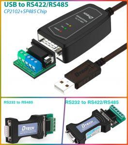 Một số thiết bị chuyển đổi USB sang RS422, RS485 chính hãng